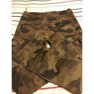 Men True Religion Army Fatigue Rocco Motto Jeans